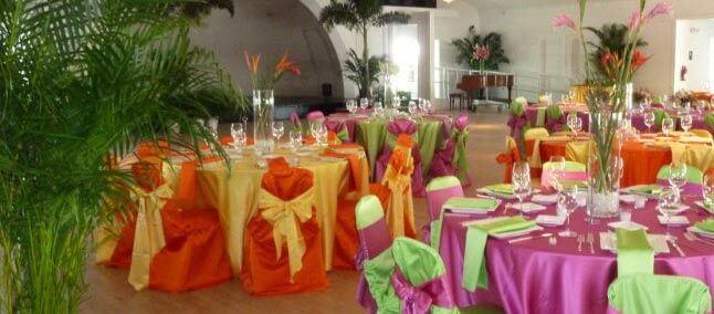 Colorful Wedding Set Up