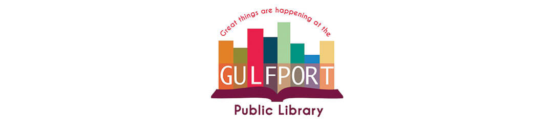 Gulfport Public Library Header on white background