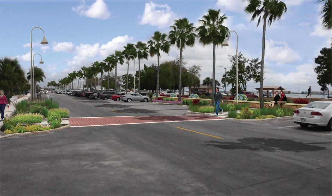 Rendering New Parking Lot