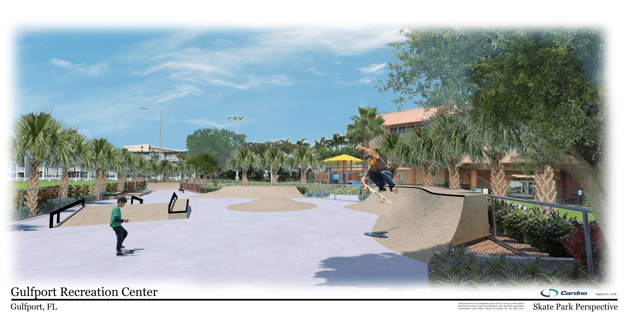 Rendering of Proposed Improvements to Skate Park