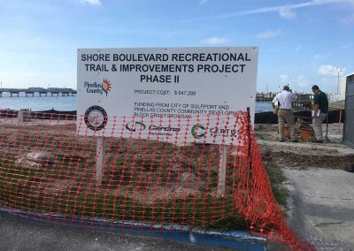 Shore Blvd Construction Sign