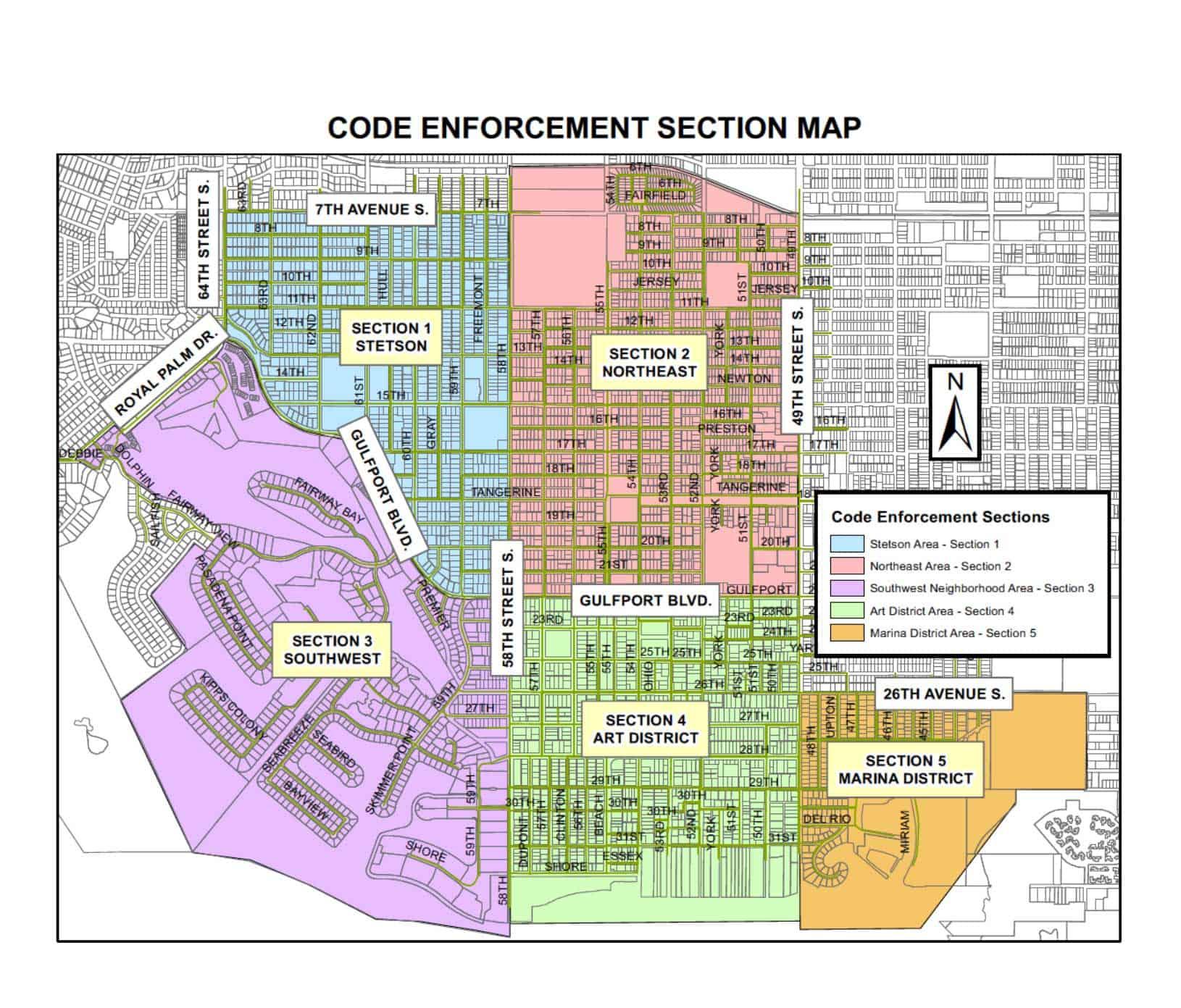 Code Enforcement Section Map