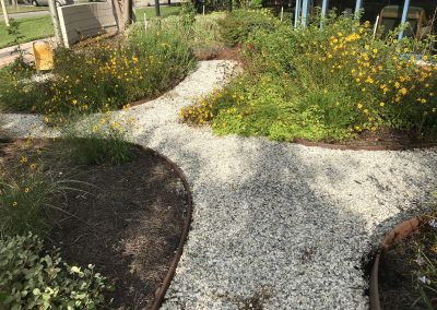 Garden Walkway at the Gulfport Public Library