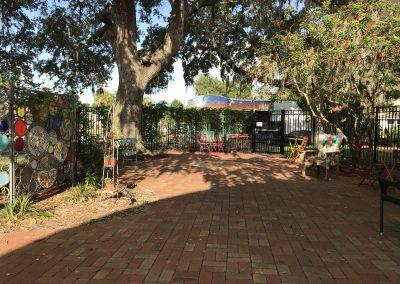 Gulfport Public Library Outside Garden