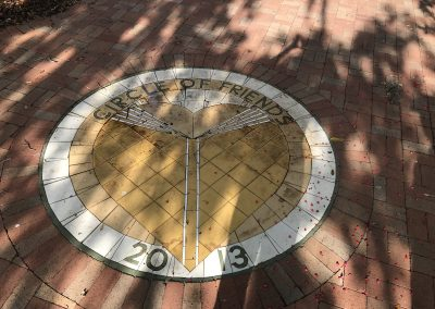 Circle of Friends of the Library Seal in Bricks