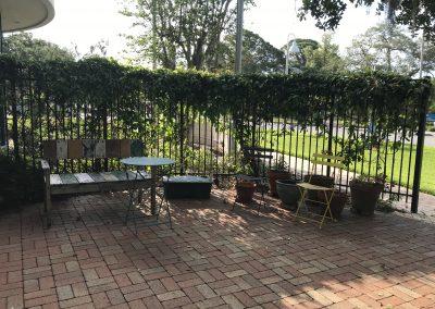 Garden at the Gulfport Public Library