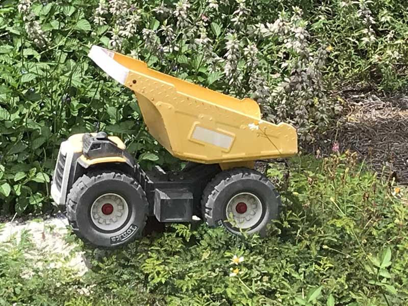 Kids Construction Truck in garden
