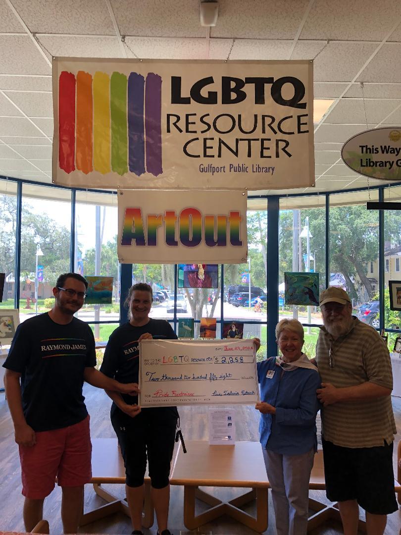 ArtOut - LGBTQ Resource Center Accepts Donation