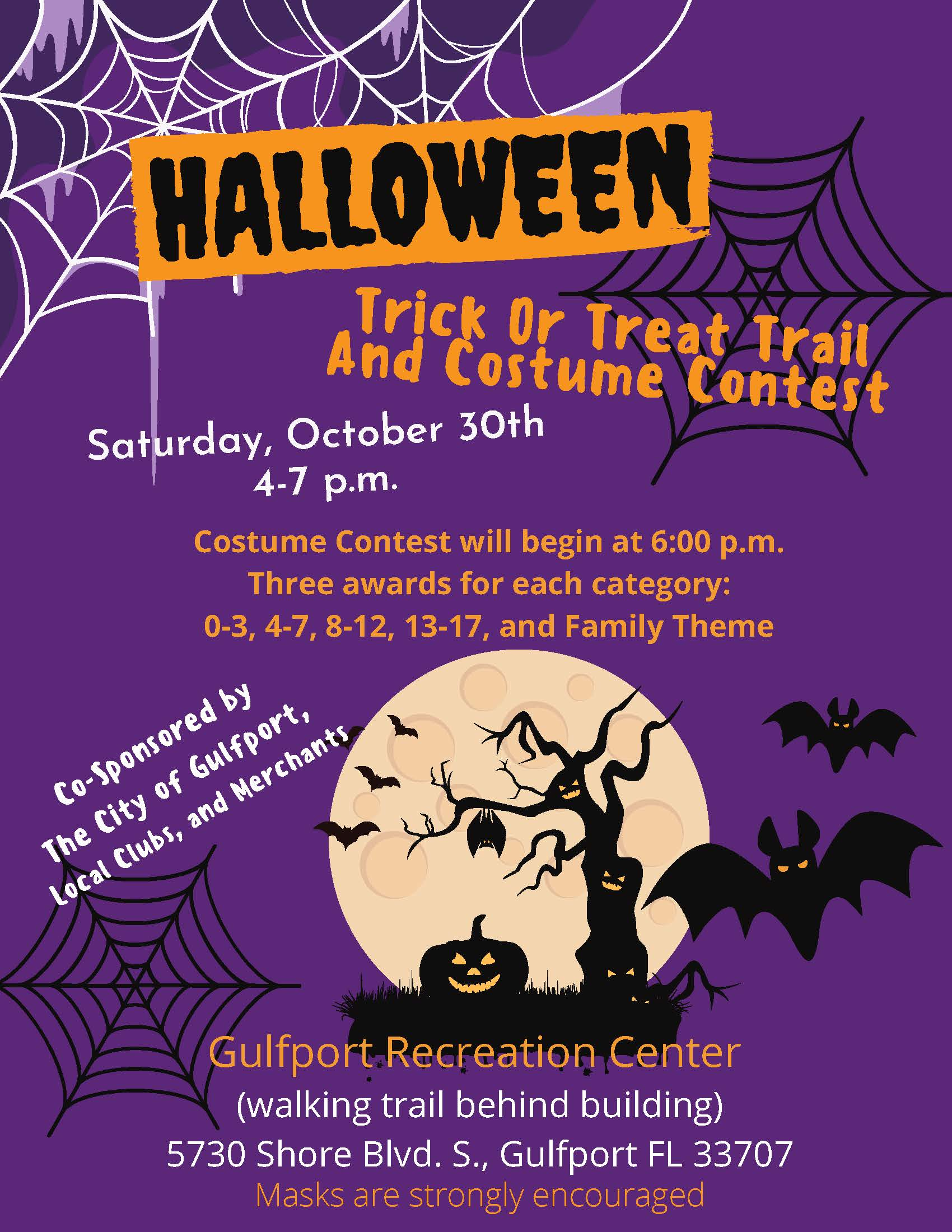 Halloween Trick or Treat Trail & Costume Contest